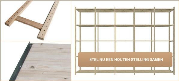 Stelling Op Maat.Houten Stellingkast Voor Thuis Kantoor Of Winkel Online Kopen